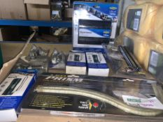 10 PIECE MIXED LOT INCLUDING 150W INVERTER, TORCHES, BULBS ETC