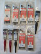 Mixed Lot of Painting Brushes