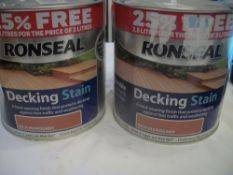 2 x Ronseal Decking Stain Rich Mahogany 2.5ltr RRP over £50