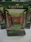 3 x Cuprinol Shed & Fence Protector Acorn Brown 5ltr RRP over £90 slightly dented
