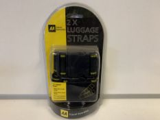 17 X BRAND NEW AA DOUBLE LUGGAGE STRAP SETS