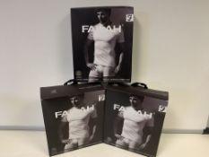 5 X BRAND NEW PACKS OF 2 FARAH CLASSIX WHITEB UNDER LAYER T SHIRTS SIZE 5XL