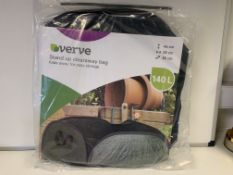 24 X BRAND NEW VERVE 140L STAND UP CLEARAWAY BAGS