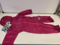 (NO VAT) 6 X BRAND NEW CHILDRENS REGATTA ALL IN ONE SUIT AGE 6-12M