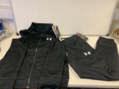 5 X BRAND NEW CHILDRENS UNDER ARMOUR FULL TRACKSUITS BLACK BOYS 15-16