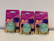 184 X BRAND NEW EOS SPF 40 LIP BALM WITH ALOE IN 4 BOXES (FLAVOURS MAY VARY)