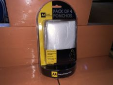 48 X BRAND NEW AA PACK OF 4 PONCHOS