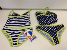 (NO VAT) 15 X BRAND NEW KIDS STUFF PACK OF 2 SWIMSUITS (2 PIECE) AGE 2-3