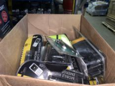 50 PIECE MIXED LOT INCLUDING TYRE SAFETY KITS, TOW ROPES, MOBILE PHONE EMERGENCY CHARGERS ETC