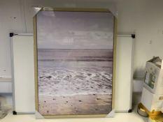 40 X BRAND NEW BOXED WOODEN FRAMED COATAL ARTWORK