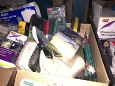 30 PIECE MIXED LOT INCLUDING CHAMOIS, SAFETY VESTS, LUGGAGE ELASTICS, ETC