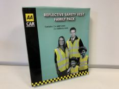 25 X BRAND NEW AA REFLECTIVE SAFETY VEST FAMILY PACKS