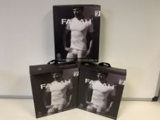 5 X BRAND NEW PACKS OF 2 FARAH CLASSIX WHITEB UNDER LAYER T SHIRTS SIZE MEDIUM