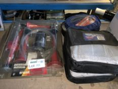 2 X BRAND NEW BLUECOL SNOW SOCKS, 1 X 6M TRAILER EXTENSION LEAD AND 1 X AIR HORN KIT