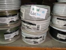 180M OF VARIOUS WIRE INCLUDING FLEX CABLE, SPEAKER CABLE ETC