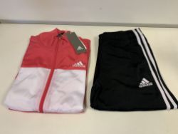 (NO VAT) 5 X BRAND NEW ADIDIAS CHILDRENS PINK FULL TRACKSUIT AGE 13-14 YEARS