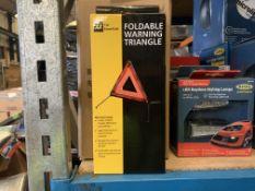 12 X BRAND NEW AA FOLDABLE WARNING TRIANGLES