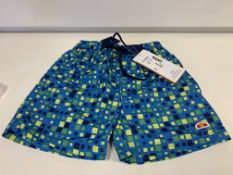 (NO VAT) 9 X BRAND NEW BOYS ELLESSE BLUE PRINT SWIM SHORTS SIZE 2-3