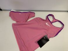 (NO VAT) 9 X BRAND NEW CHILDRENS NIKE 2 PIECE TANKINI SWIMWEAR SETS PINK SIZE MEDIUM