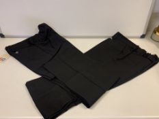 (NO VAT) 12 X BRAND NEW THE KIDS DIVISION GIRLS PACK OF 2 BLACK TROUSERS SIZE 9-10