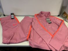 7 X BRAND NEW CHILDRENS UNDER ARMOUR FULL TRACKSUIT PINK AGE 15-16