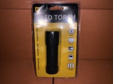 25 X BRAND NEW AA 9 LED TORCHES