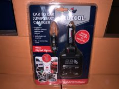 9 X BRAND NEW BLUECOL CAR TO CAR JUMPSTART CHARGERS