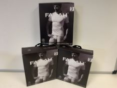 5 X BRAND NEW PACKS OF 2 FARAH CLASSIX WHITEB UNDER LAYER T SHIRTS SIZE 3XL