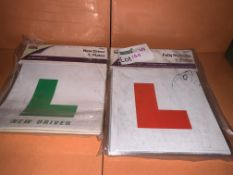 120 X VARIOUS BRAND NEW LEARNER DRIVER MAGNETIC L PLATES