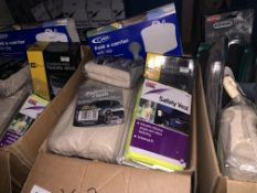 30 PIECE MIXED LOT INCLUDING POLISHING CLOTH, SAFETY VESTS, DE MISTER PADS, ETC