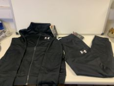 6 X BRAND NEW CHILDRENS UNDER ARMOUR FULL TRACKSUITS BLACK BOYS 15-16