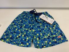 (NO VAT) 8 X BRAND NEW BOYS ELLESSE BLUE PRINT SWIM SHORTS SIZE 2-3