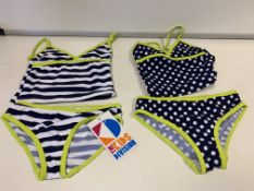 (NO VAT) 14 X BRAND NEW KIDS STUFF PACK OF 2 SWIMSUITS (2 PIECE) AGE 2-3