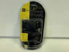 48 X BRAND NEW DOUBLE LUGGAGE STRAPS SETS