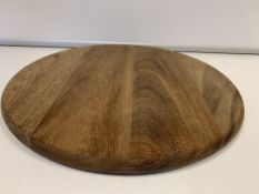24 X BRAND NEW BOXED CALZONE ROUND ACACIA PIZZA BOARDS IN 2 BOXES