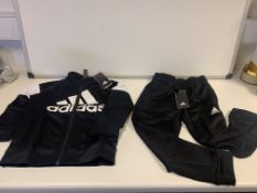 (NO VAT) 7 X BRAND NEW CHILDRENS ADIDAS BLACK FULL TRACKSUIT SIZE 4-5