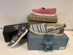 (NO VAT) 6 X BRAND NEW CHILDRENS TOMS IN VARIOUS STYLES AND SIZES