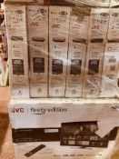 (TV32) PALLET TO CONTAIN 14 x VARIOUS RETURNED TVS TO INCLUDE JVC. SIZES INCLUCE: 40INCH, 43INCH