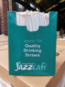 PALLET TO CONTAIN APROX. 120,000 x JAZZ CAFÉ INDIVIDUALLY WRAPPED BENDY PLASTIC QUALITY DRINKING