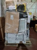 (H30) LARGE PALLET TO CONTAIN VARIOUS ITEMS SUCH AS: STANLEY 2KW HEATER, 2500W CONVECTOR HEATER WITH