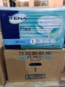 (Z3) PALLET TO CONTAIN 48 x NEW SEALED PACKS OF 30 TENA FLEX SUPER LARGE PADS. UNISEX. RRP £22 PER