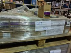 (D17) PALLET TO CONTAIN 100 x NEW 4KG BOXES OF 16MM FLAT WASHERS STEEL. RRP £15 PER BOX (241/18)