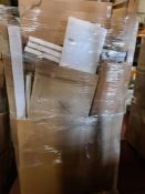 (H29) LARGE PALLET TO CONTAIN VARIOUS ITEMS SUCH AS: TAPS, TOILET SEATS, WETROOM PANEL, VANITY UNITS