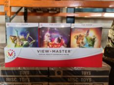 PALLET TO CONTAIN 240 x NEW SEALED VIEW MASTER VIRTUAL REALITY EXPERIENCE PACKS. INCLUDES: