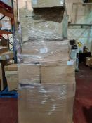 (H28) LARGE PALLET TO CONTAIN VARIOUS ITEMS SUCH AS: BATHROOM VANITY UNIT, CERAMIC BASIN, BATHROOM