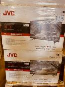 (TV25) PALLET TO CONTAIN 14 x VARIOUS RETURNED TVS TO INCLUDE JVC, . SIZES INCLUDE: 43INCH, NOTE: