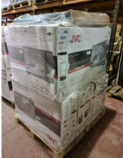 (TV8) PALLET TO CONTAIN 18x VARIOUS RETURNED TVS TO INCLUDE- JVC, SAMSUNG, . SIZES INCLUCE: