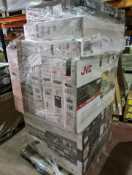 (TV11) PALLET TO CONTAIN 15 x VARIOUS RETURNED TVS TO INCLUDE TOSHIBA, JVC, . SIZES INCLUCE: 43INCH,