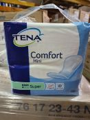 NO VAT (J204) PALLET TO CONTAIN 72 x NEW SEALED PACKS OF 28 TENA COMFORT MINI SUPER PADS