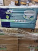NO VAT (J205) PALLET TO CONTAIN 48 x NEW SEALED PACKS OF 30 TENA FLEX SUPER PADS SIZE SMALL
